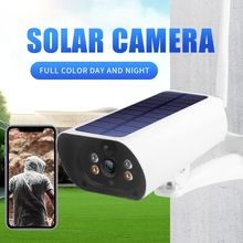 New Solar power 4g sim card 2MP IP cameras P2P Rechargeable COLOR IR vision outdoor network cameras 4g solar camera cheap JIANSHU 1080P(Full-HD) 3 6mm Bullet Camera Side White CMOS Waterproof Weatherproof 64GB H 264 Normal Infrared 195*67*95MM