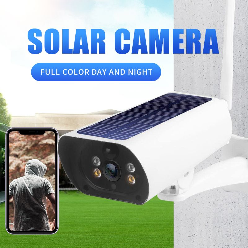 New Solar Power 4g Sim Card 2MP IP Cameras P2P Rechargeable COLOR IR Vision Outdoor Network Cameras 4g Solar Camera