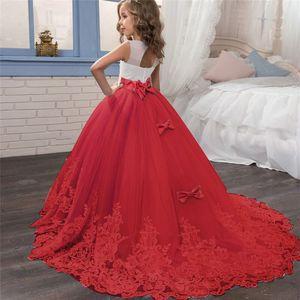 Image 2 - ילדה שמלת שושבינה תחרות שמלת שמלת ילדה ילדים שמלות בנות נער 10 12 14 שנים מסיבת חתונה תחרה ילדים בגדים