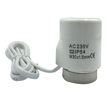 230V 2W Accessories Electric Thermal Actuator PC Home Manifold Replacement Practical Normally Open Close For Underfloor Heating