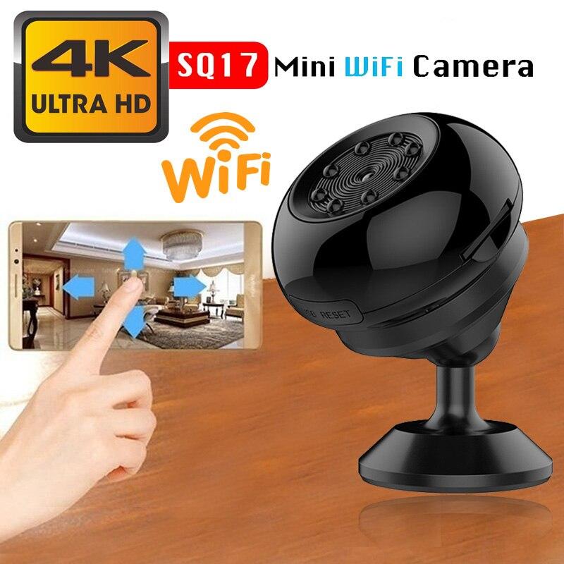 SQ17 Mini caméra IP Wifi HD 1080P caméscope vidéo 4K caméra Vision nocturne sans fil caméra magnétique Wifi Mini caméscope