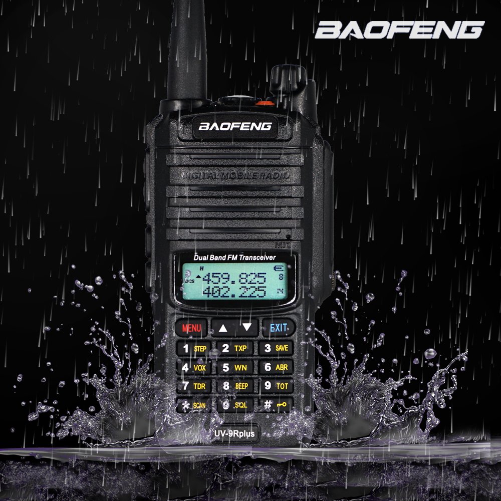 Baofeng UV-9R Plus Walkie Talkie IP67 Waterproof Master Speaker  CB Radio FM Transceiver UHF/VHF Radio 10W 4800mAh Uv 9r Plus