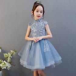 Детское платье принцессы на день рождения, подиум для показа рояля, супер стильное Пышное Платье для девочек