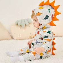 Baby Boy Clothes Dinosaur Print Romper Long Sleeve Jumpsuit