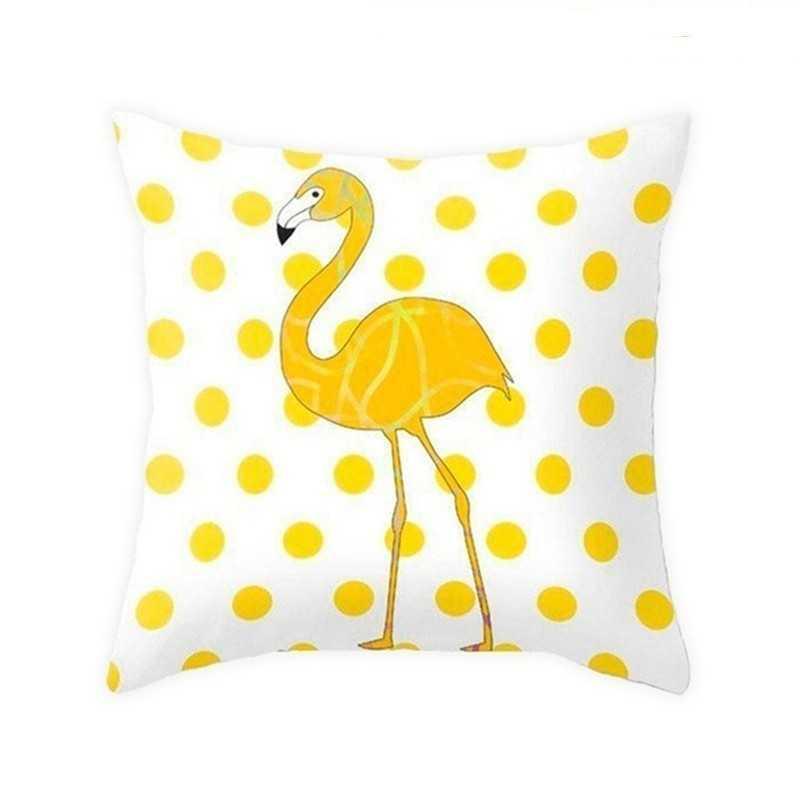Желтая Полиэстеровая Подушка Обложка ананас цветы Фламинго буквы Абстрактный Узор Диван Декоративные наволочки домашний декор