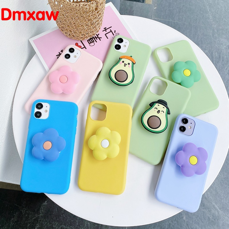 Flower Soft Case For OPPO A11K Realme C11 C12 C15 6 6i 5 5i 5s C3 5 3 X2 X50 Pro XT A52 A72 Phone Case With Holder Stand Cover|Fitted Cases|   - AliExpress