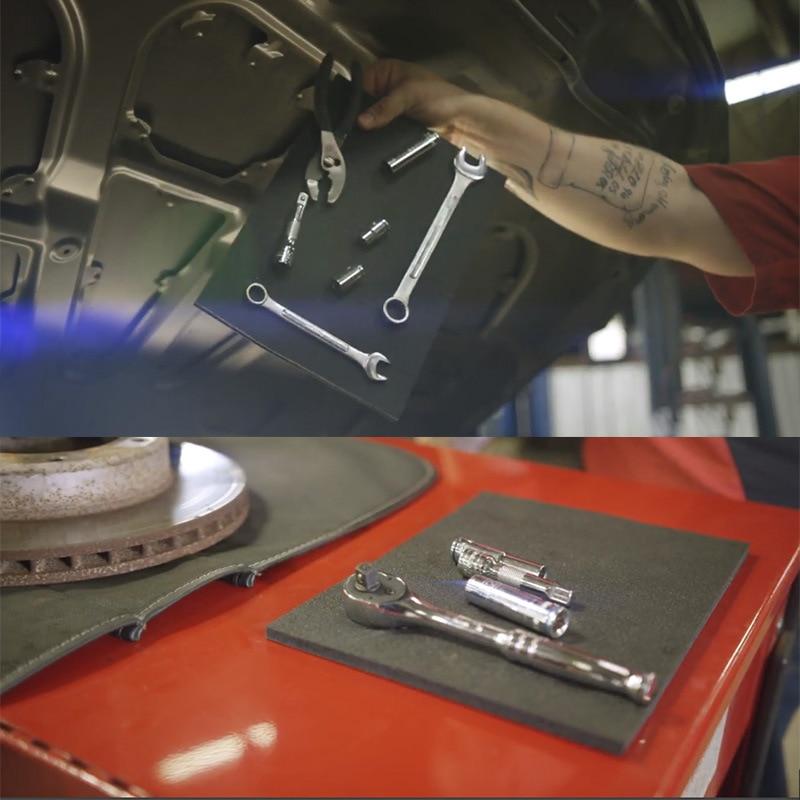 Portable Strong Magnetic Pad Tools Holder Working Repair Tool Storage Mat Car Repair Accessories Mag-Pad Toolbox Accessories