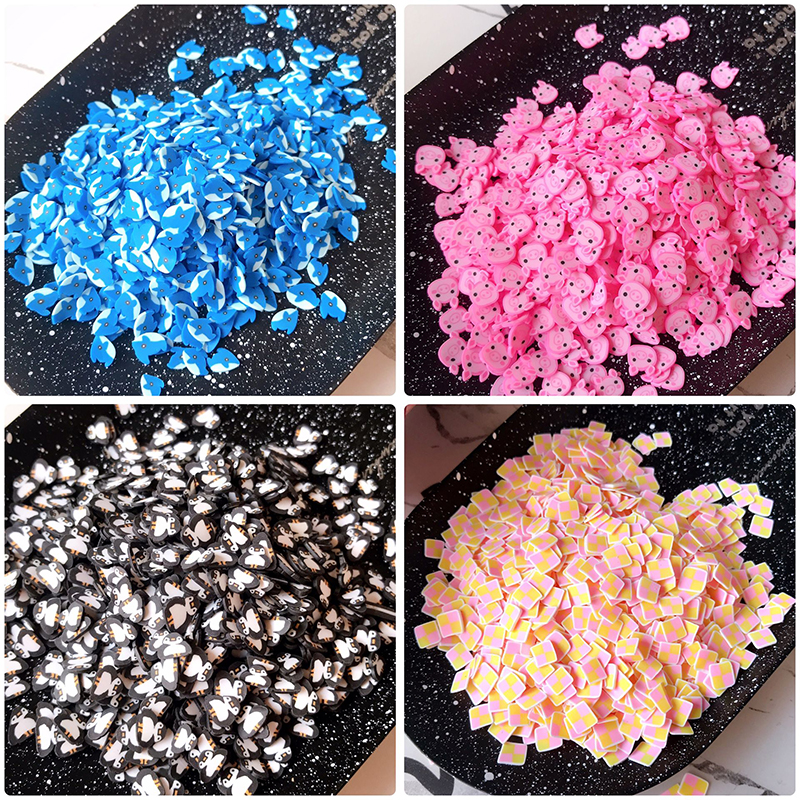 Happy Monkey 10g Slime Additives Supplies New Polymer Clay Penguin Pig DIY Kit Sprinkles Filler For Fluffy Clear Slime Clay