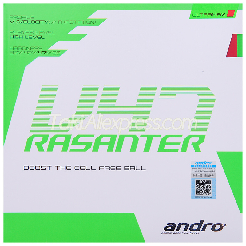 Andro RASANTER V47 Table Tennis Rubber Pips-In Original ANDRO V47 Ping Pong Sponge