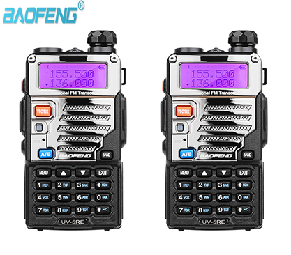 2PCS Baofeng UV-5RE Walkie Talkie Scanner Radio Dual Band Cb Ham Radio Transceiver UHF 400-520MHz VHF136-174MHz 5W 128CH LCD