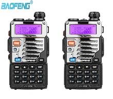 Rádio bidirecional do presunto de fm 128ch de 2 pces baofeng UV 5RE de banda dupla 136 174/400 480 mhz