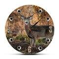 Охотник на оленей  камера  снайпер  большой бак  круглые Настенные часы  охотничий декор  дикая природа  животные  искусство  лося  кабина  нас...