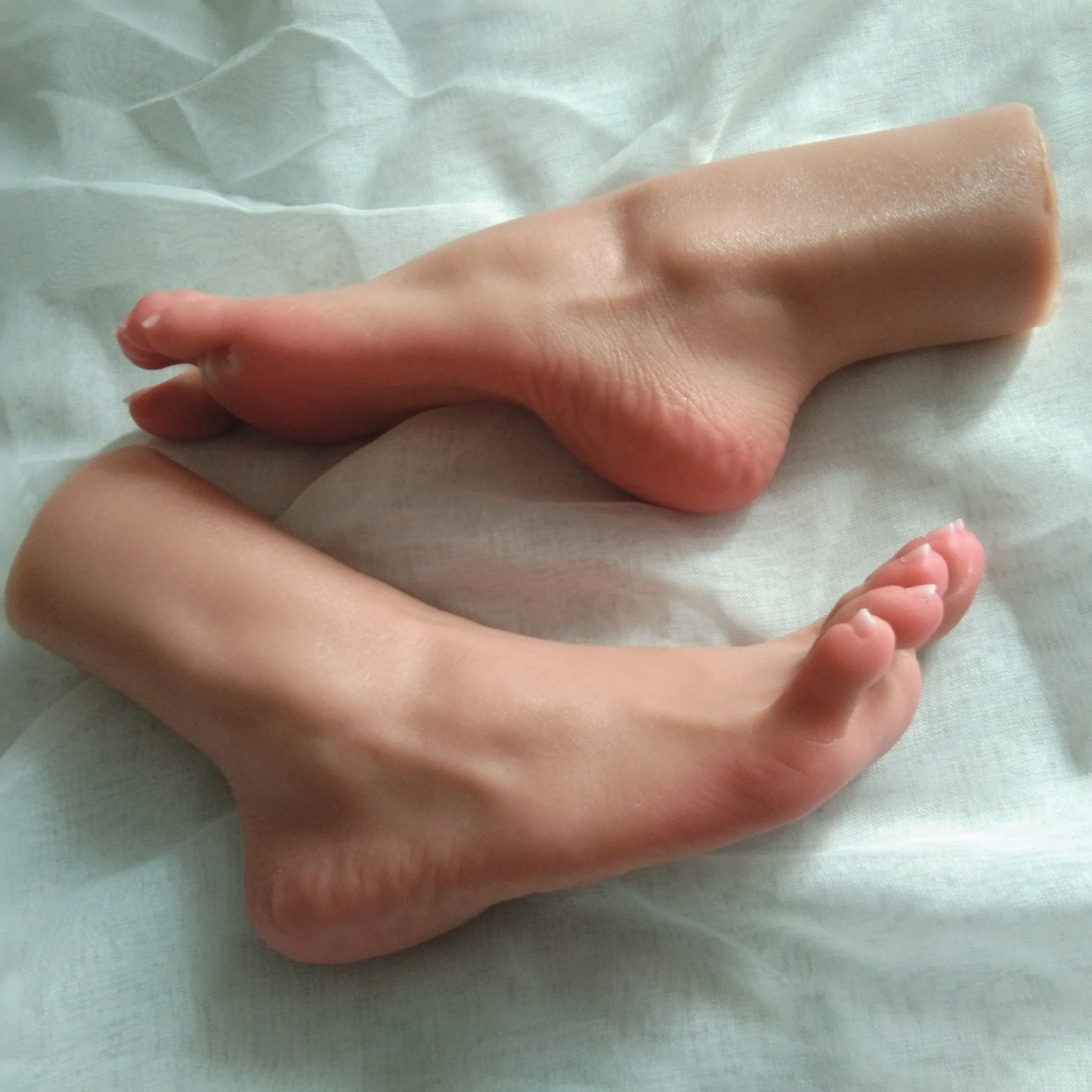 1 Pair Sexy  Foot Feet Pointed Toes Fetish Toys Model Sex Dollsfor Feet Job Real Feel Tanning Skin