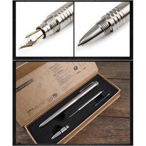Image 2 - Dropshipping del regalo dello strumento di EDC di sopravvivenza allaperto dellinterruttore di vetro di autodifesa della penna stilografica 2 In 1 della nuova penna tattica di titanio
