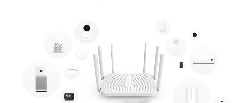 Xiaomi Redmi AC2100 router 2.4G / 5G dual frequency wireless Wifi 128M RAM Game accelerator Coverage  External Signal Amplifier
