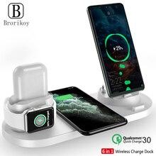 Draadloze Oplader Multifunctionele Fast Charging Stand Voor Iphone 11 Pro X Xs Apple Horloge 5 4 3 Airpods pro Draadloze Quick Charger