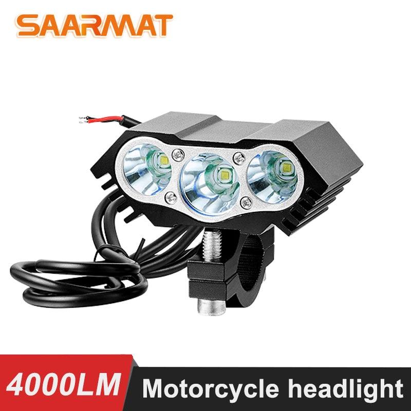 1PCS 12V-85V 30W 4000LM 2x XM-L T6 LED Motorcycle Headlight Spot Work Light Offroad Driving Fog Light Lamp Scooters Spotlight