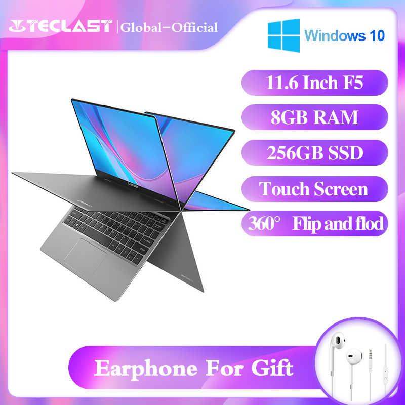Teclast F5 ноутбук 11 6 дюймов 8 Гб RAM 256 ГБ SSD 360 ° вращающийся 1920*1080 IPS камера Wifi Bluetooth