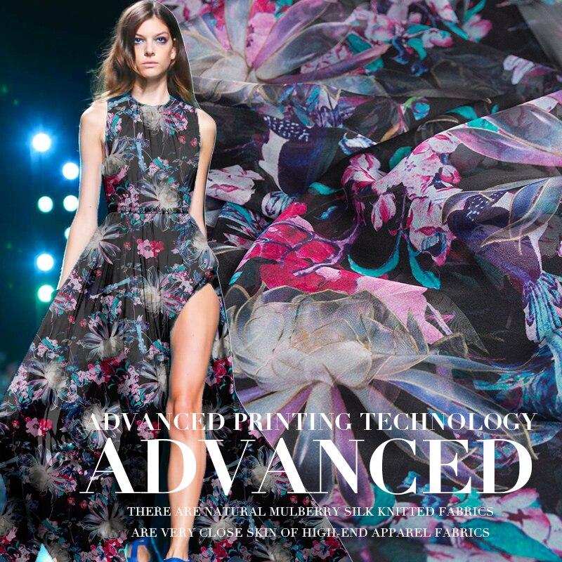 0.5 M Spring And Summer New Ultra-Thin Silk Fabric Transparent Elegant High-End DIY Handmade Dress Silk Chiffon Fabric