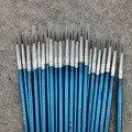 100 шт./компл. тонкая нейлоновая ручка с крючком, кисть для рисования #0 #00 #000 акварельные товары для рукоделия, покраска