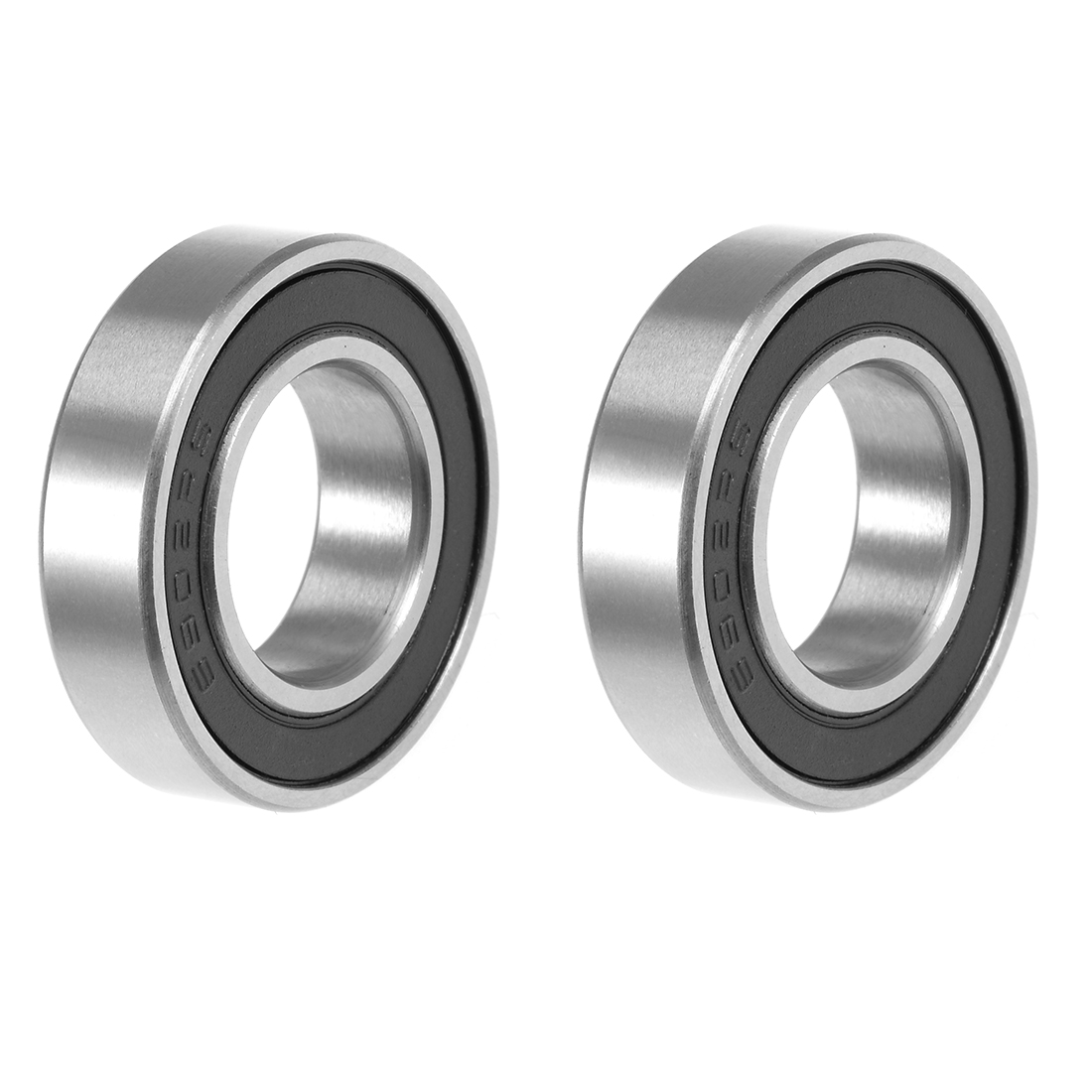 uxcell <font><b>6902</b></font>-<font><b>2RS</b></font> Ball <font><b>Bearing</b></font> 15x28x7mm Double Sealed ABEC-3 <font><b>Bearings</b></font> 2pcs image