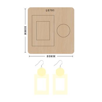 SMVAUON notatnik Die Cut prostokąt kolczyk handmade nowe matryce do 2020 drewniany szablon do wycinania formy do wykrawania drewna tanie i dobre opinie Leather Tools