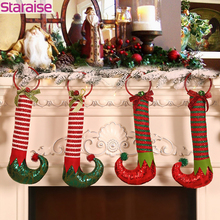 Christmas Elf Boots Pendant Tree Ornaments Gift Decorations For Home Party Decoration