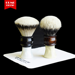 OUMO щетка-душа дерева щетка для бритья с Manchuria/шелк HMW silvetip узел щетка для бритья узлы
