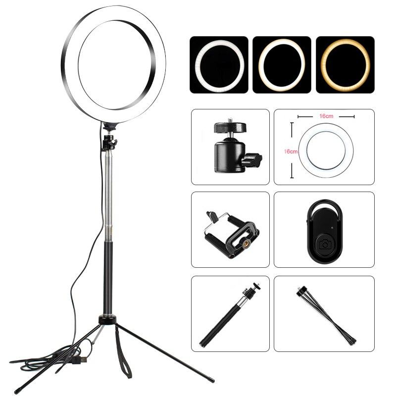 Led selfie anel luz estúdio fotografia foto