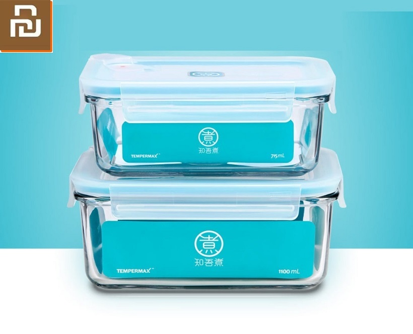 Youpin New Tough Glass Crisper Strong Seal Home Office Lunch Box Heat Resistant Tempering Strong And Sturdy Glass Crisper