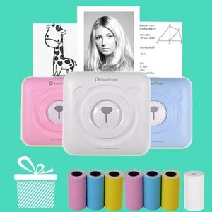 Image 1 - Mini POS Portable Printer Pocket Mobile Photo Ptinter Thermal Bluetooth 58mm Wireless Label Printer with Adhesive Sticker Paper