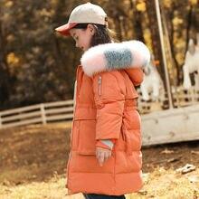 Детская одежда пуховик для девочек средней длины отдыха подходящая