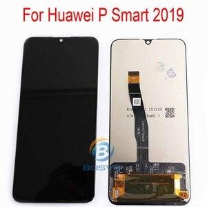 Image 2 - Tela lcd huawei p smart 2019, peças de reposição para montagem com touch