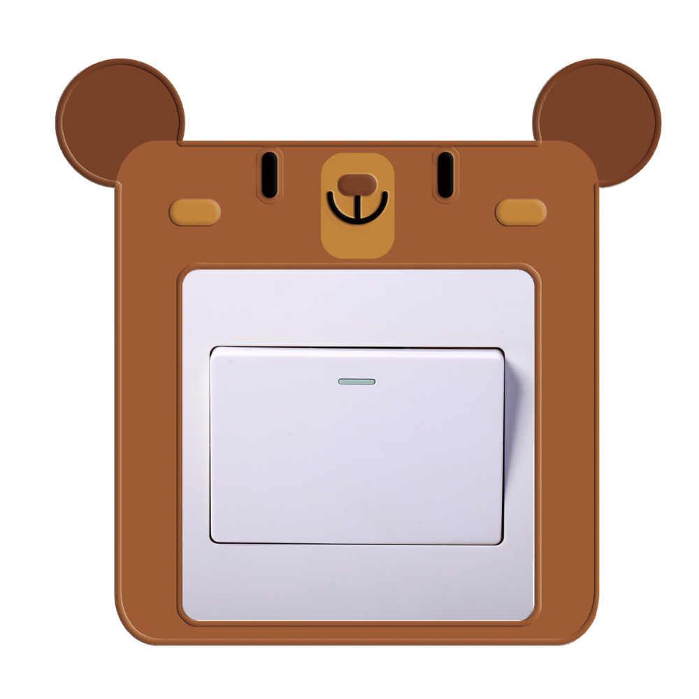 4D creativo alivio pegatina para interruptor de dibujos animados pegatina de pared interruptor cubierta protectora Anti-polvo impermeable cubierta decoración de enchufe