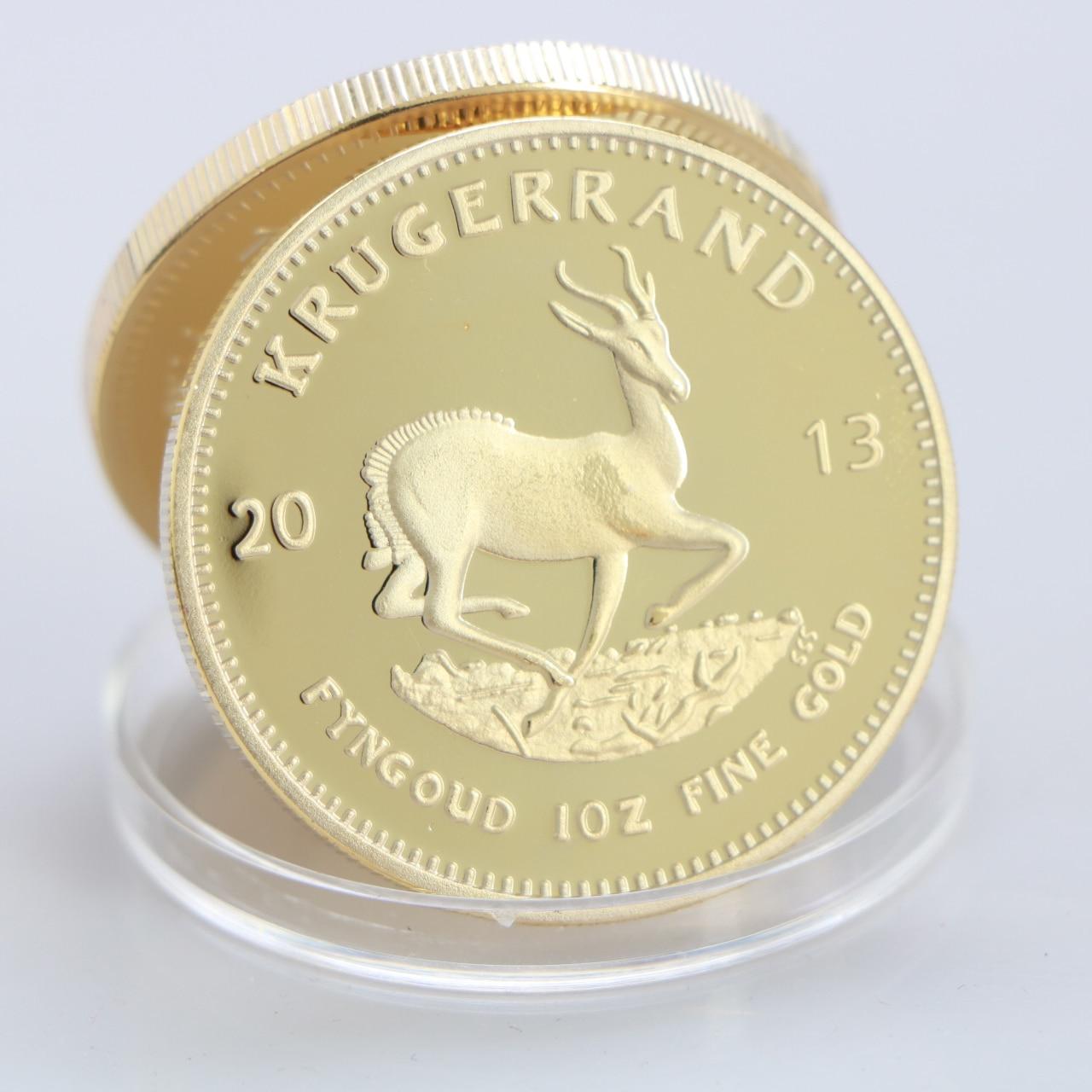2013 Южная Африка Саудовская Африка Krugerrand 1OZ Золотая монета Paul Kruger Token Value коллекционные монеты