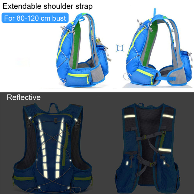 Lightweight running hydration vest