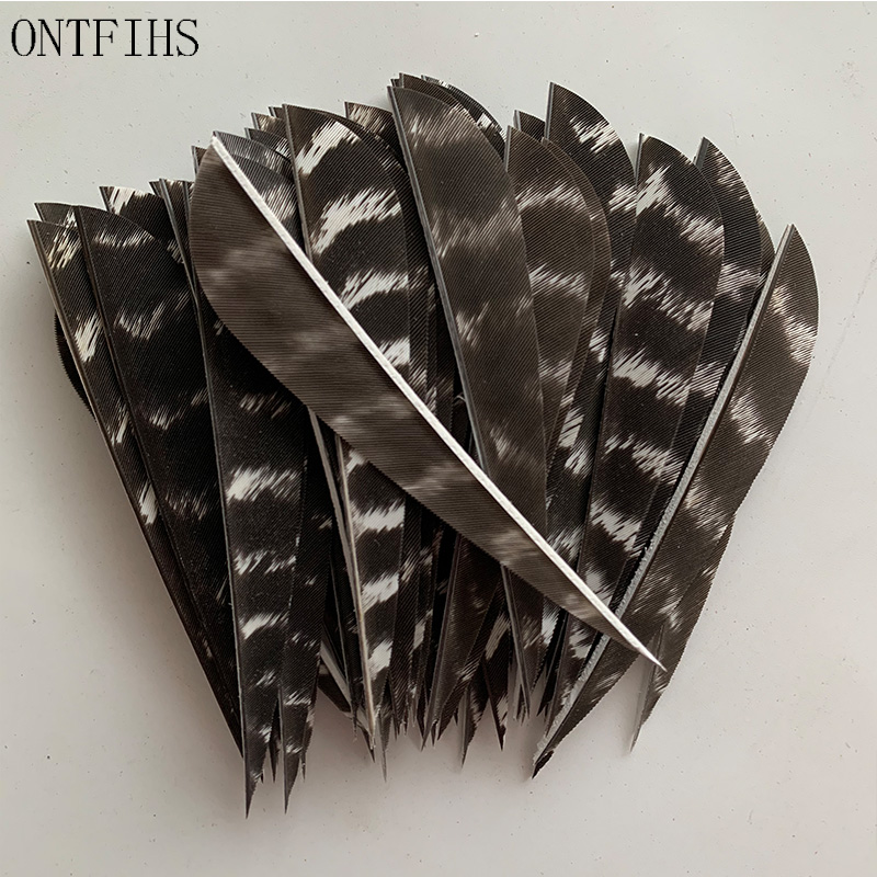 Archery Feathers 50pcs 3 Inch Natural Feather Fletches Arrow Shaft DIY