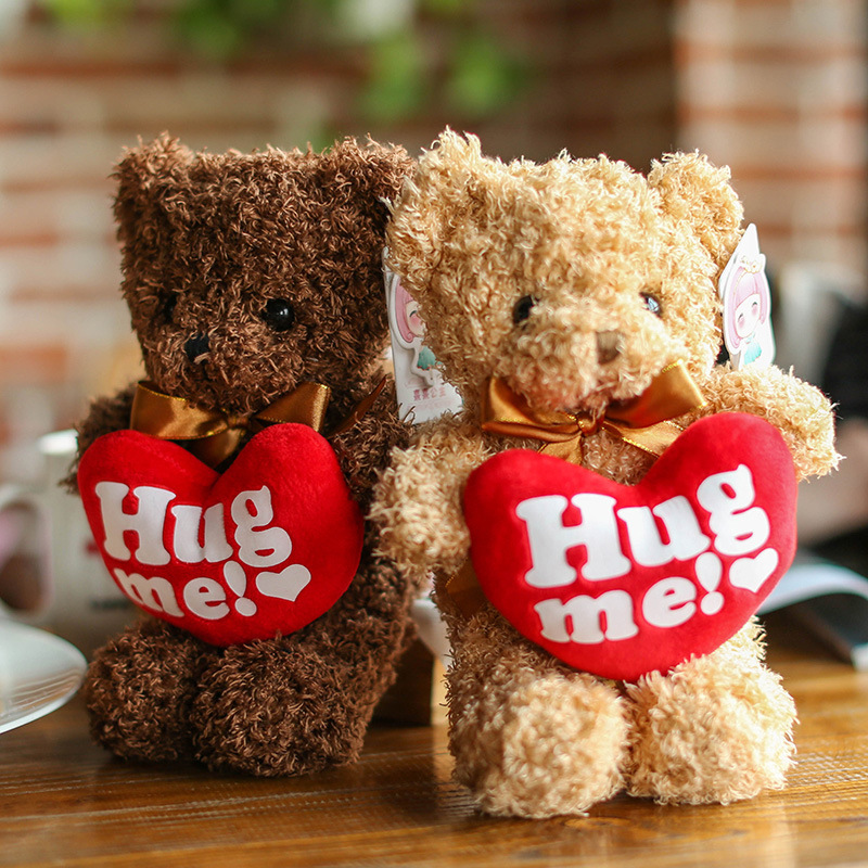 Valentine S Day Gift Cute Bear With Love Heart Letters Hug Me New Year Prezent Girlfriend Gift Present Anniversary Party Favors Aliexpress