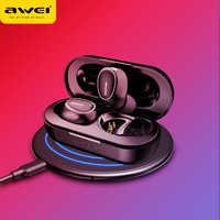 Awei T6C TWS Bluetooth Kopfhörer Drahtlose Ohrhörer Sport Stereo Kopfhörer Dual Mikrofon Headset Mit Lade Fall Für Handys