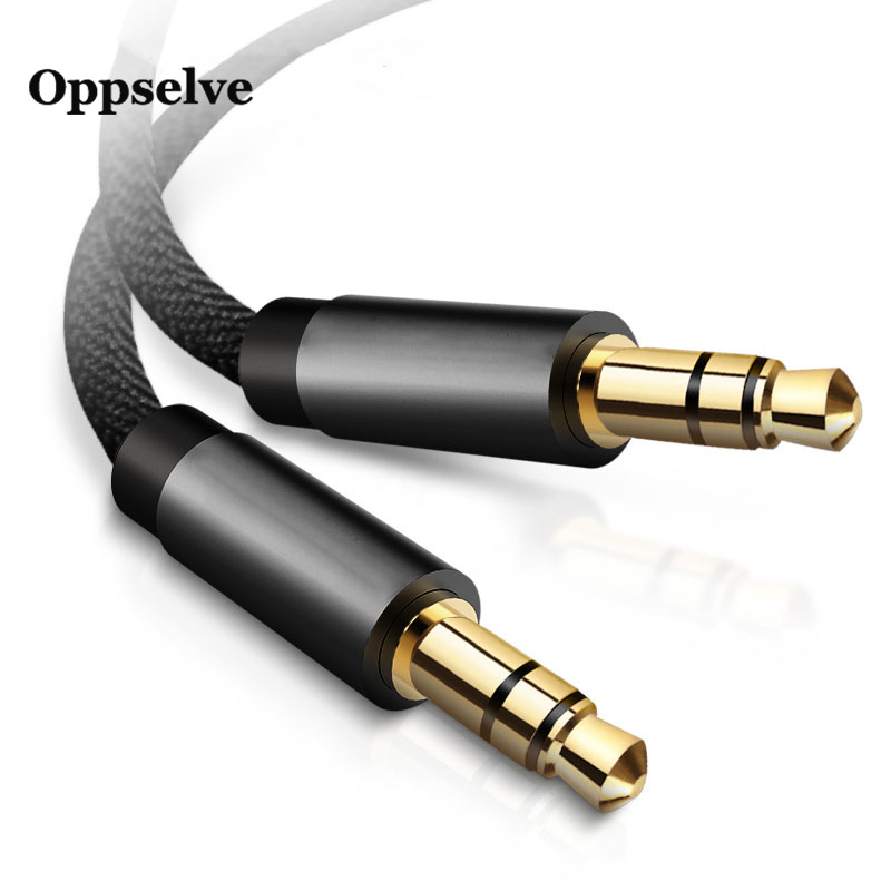 Männlich-Männlich 3,5mm Jack Aux Kabel für Kopfhörer Headset PC Auto Audio Stereo Extender Nylon Kabel Jack 3 5 Aux Draht Kabel für Samsung