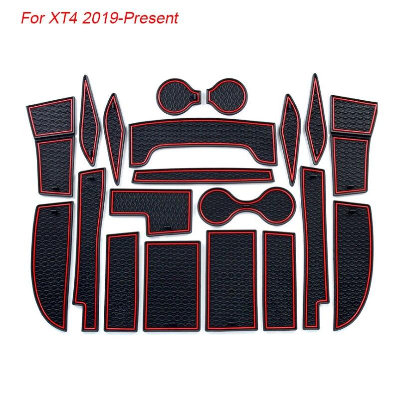 20PCS Red Inner Door Gate Non-slip Pad Mat For Cadillac XT4 2018 2019