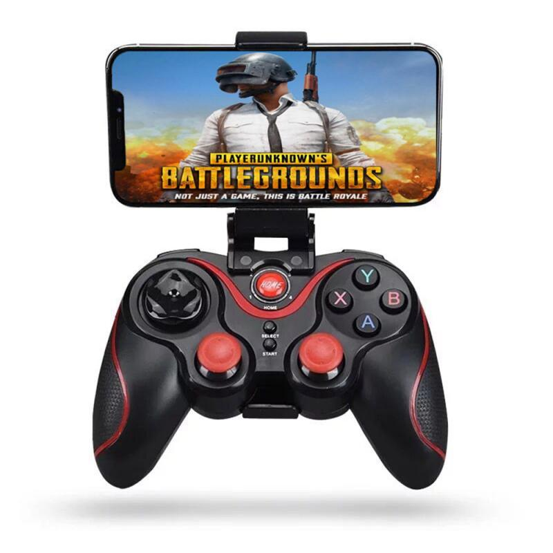 Bluetooth Wireless Gamepad S6Game Controller Joystick For Android IOS Mobile Phones PC Game Handle TV Box Holder