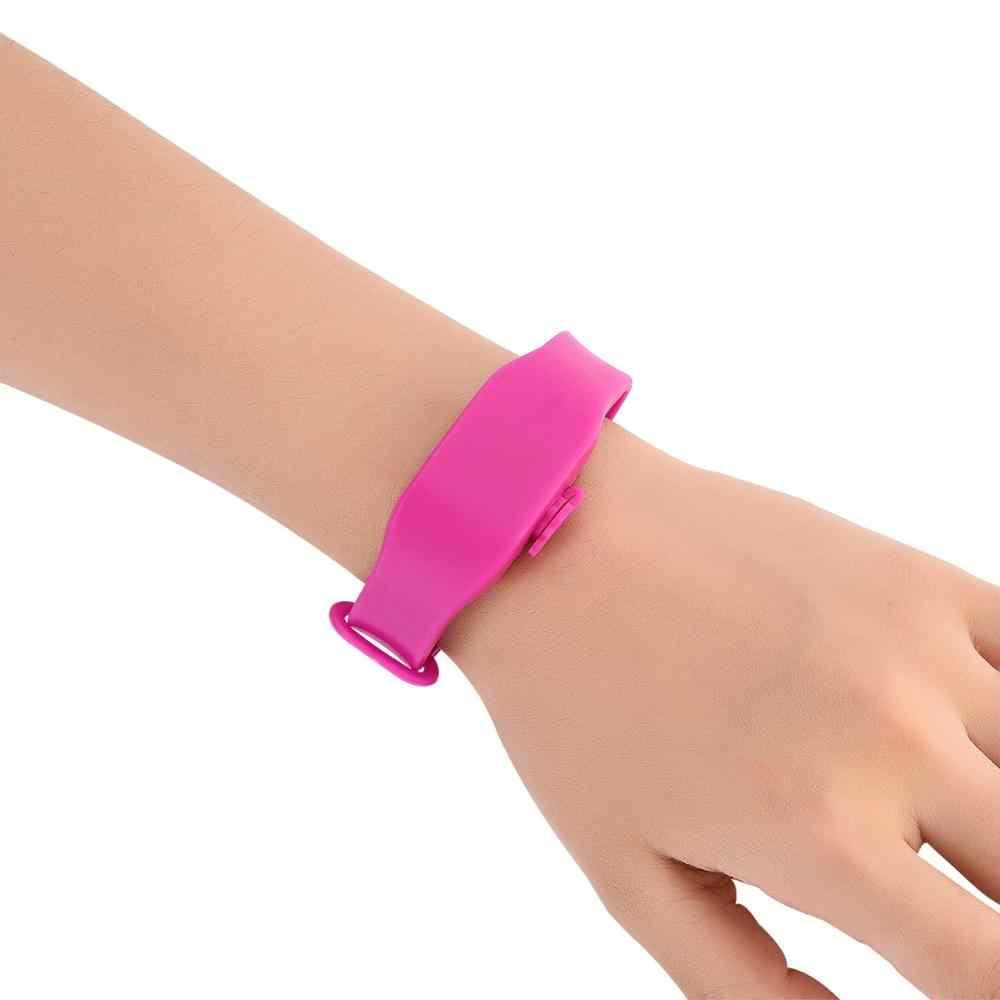 1Set Bambino Adulto Distributore di Liquido per Le Mani Wristband della Fascia di Polso Del Gel Senza Tutta La Sanificazione Disinfettante per le mani del Braccialetto Nuovo trasporto libero