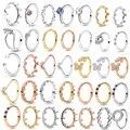 Женское кольцо с цирконием TOGORY, элегантное обручальное кольцо с цветком, брендовая Праздничная бижутерия с кольцами, подарок, специальное п...