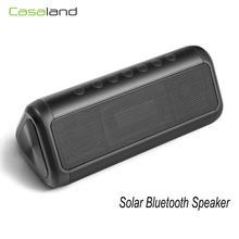 Przenośny głośnik słoneczny Bluetooth bezprzewodowy wodoodporny 5000mAh Power Bank głośnik zewnętrzny 12W głośnik basowy tanie tanio casaland Przenośne Baterii Z tworzywa sztucznego Pełny Zakres 2 (2 0) CN (pochodzenie) 25 W NONE 12 w Radio Funkcja telefonu