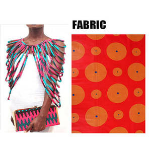 Image 3 - BRW 2020 African Ankara Handmade Strap Necklaces Fashion Accessories Jewelry Gift Afircan Fabric Print Necklace Shawl WYX15