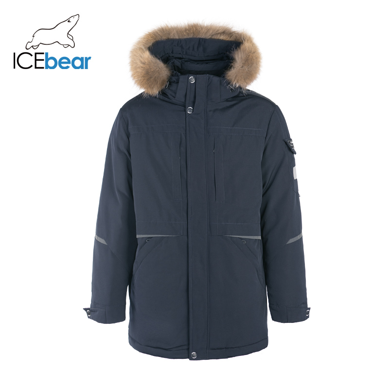 ICEbear 2019 New Winter Men's Coat Hooded Jacket High Quality Brand Men's Clothing MWD19805I icebear 2018 new high quality winter coat women hooded windproof jacket long women s clothing high grade metal zipper gwd18101d