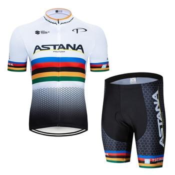 2020 preto astana roupas de ciclismo bicicleta jérsei secagem rápida dos homens roupas verão equipe ciclismo jérsei 9dgel bicicleta shorts conjunto 25
