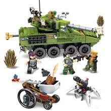 Military Series technic Army Car tank Chariot Weapon Model Building Blocks Sets Bricks Educational Toys For Children Boy Gifts lis lepin 31001 military egypt pharaoh series the scorpion pyramid children educational building blocks bricks toys model gifts