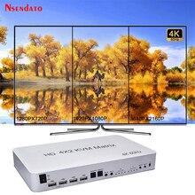 4 Port USB HD KVM Matrix 4X2 Dual Monitor 4K @ 60Hz HDR Schalter Splitter 4 in 2 aus HD 2,0 Switcher Für USB 2,0 Tastatur Maus PC